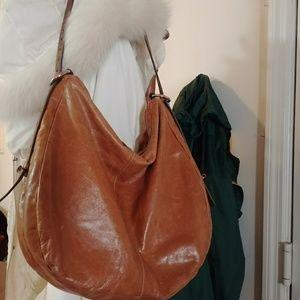 Large HOBO THE ORIGINAL Natural Leather Shoulder